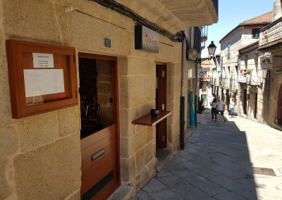 Entrada y Bar del Restaurante Boigorri de Allariz